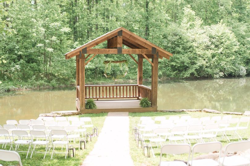 Lakeside wedding gazebo