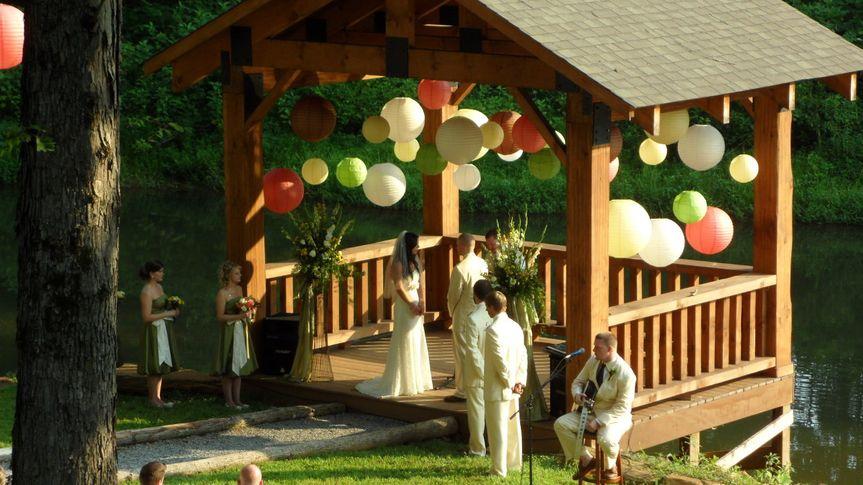 Waterfront gazebo wedding