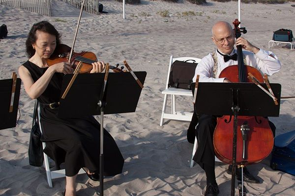 Cello and violin for cocktail hour or ceremony