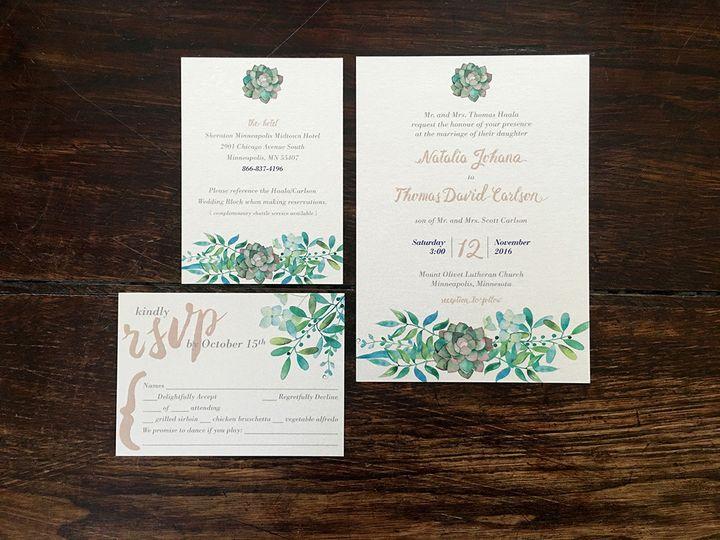 Tmx 1482098507483 Img2227 Dallas wedding invitation