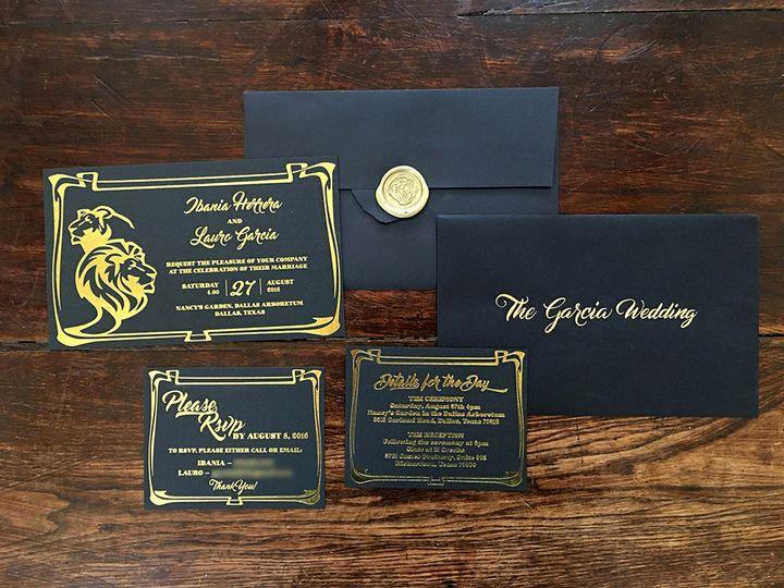 Tmx 1482098610455 Img2219blur Dallas wedding invitation