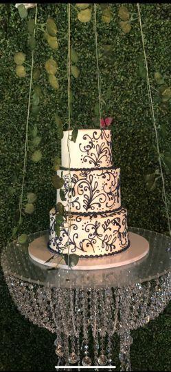 Chandelier cake swing.