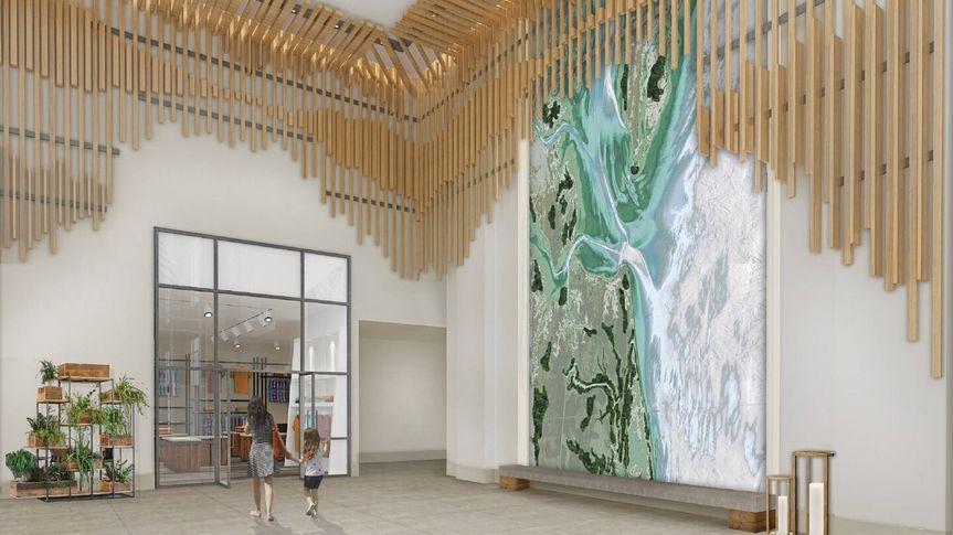 A modern foyer