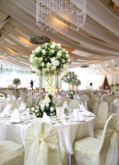 Table setting and white decor