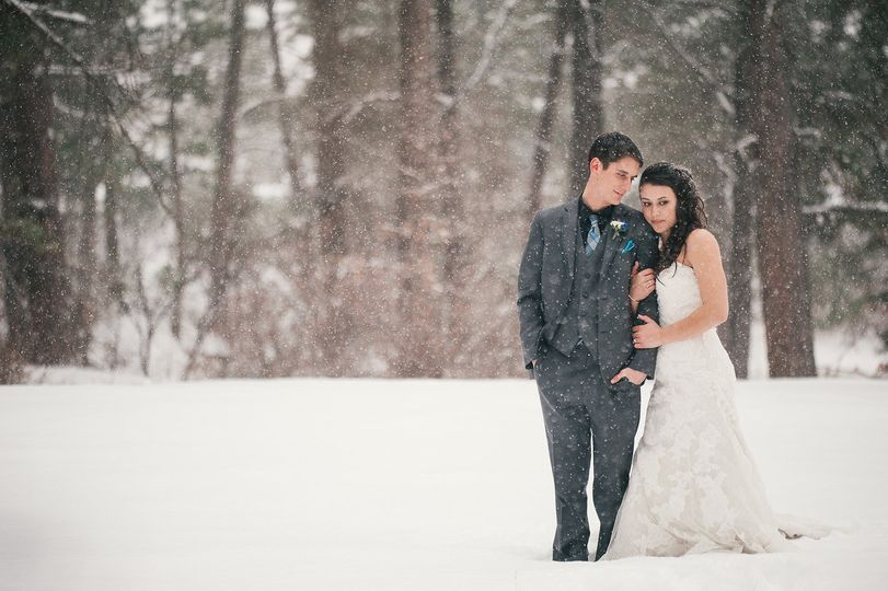 Winter Colorado wedding