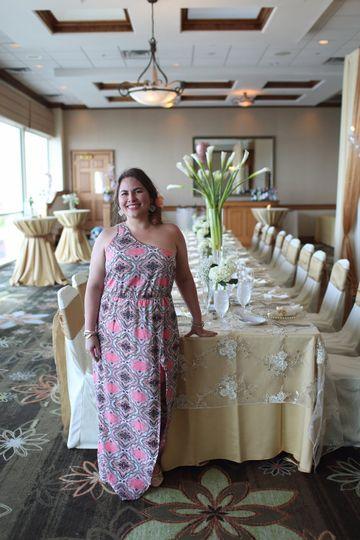 Decor by beach side wedding