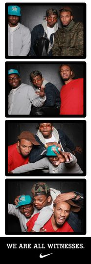 nike photo booth strip
