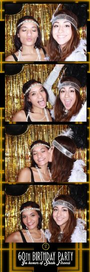 photo booth strip with full background