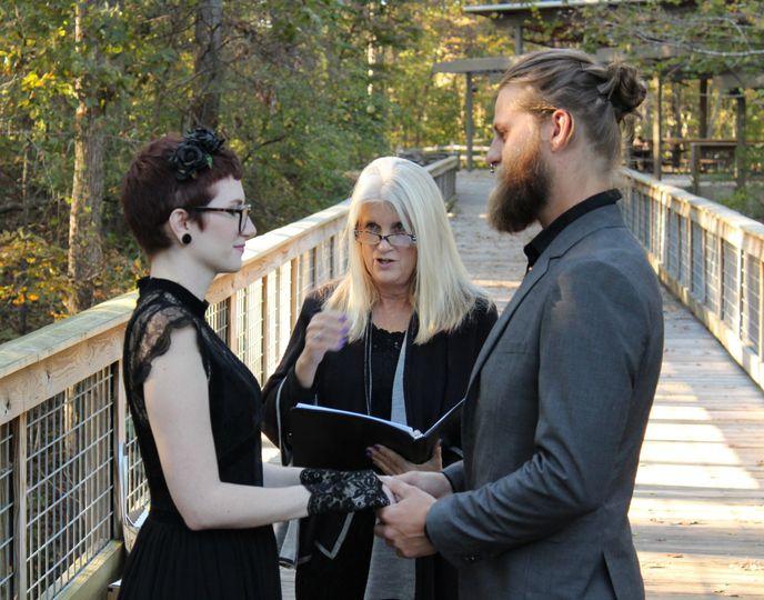 Wedding on a bridge