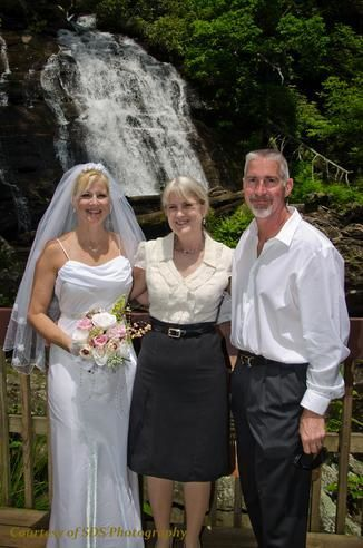 Wedding by the waterfalls