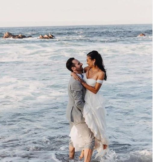 Couple glowing in the ocean