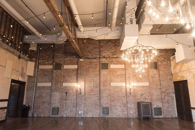 Events space and chandeliers