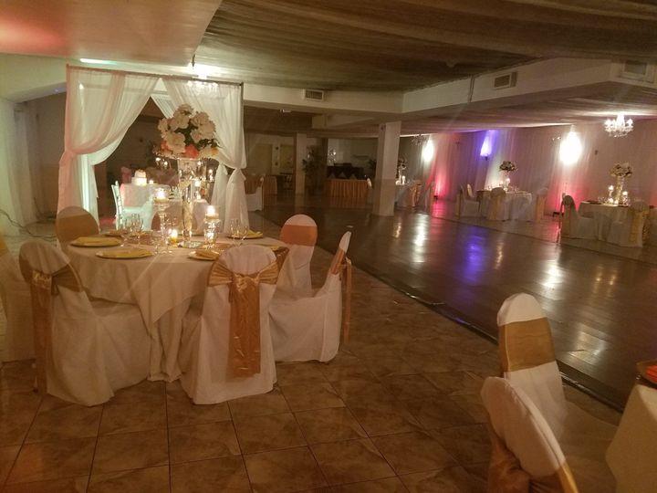Wedding reception and dance floor