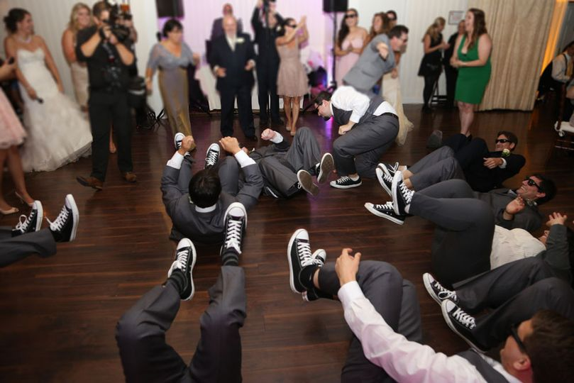bridal party sneaker dance