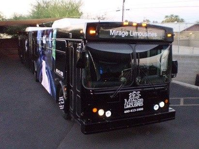 The largest party bus in AZ. seventy feet long, this beauty can hold 65 passengers in style.