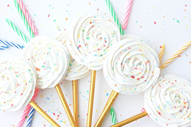 Birthday Cake Lollipops