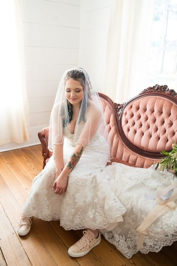 Bride and her Sneakers
