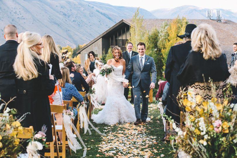Mountain Wedding Exit