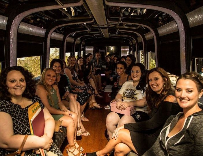 Bus from hotels to wedding/reception