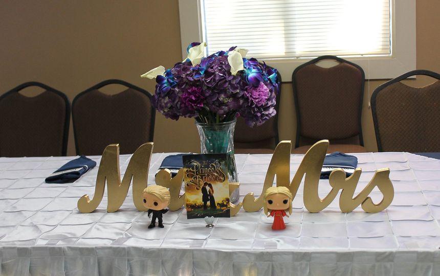 "Head table decor- ""nerdy"""