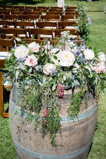 Wine barrel flower