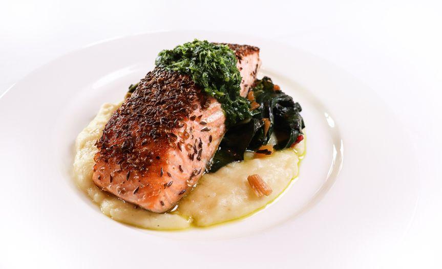 Caraway crusted salmon