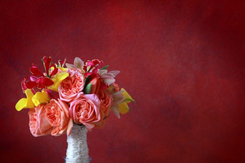 eb393e84f6b93116 1506035394604 garden rose tulip gloriosa lily bouquet