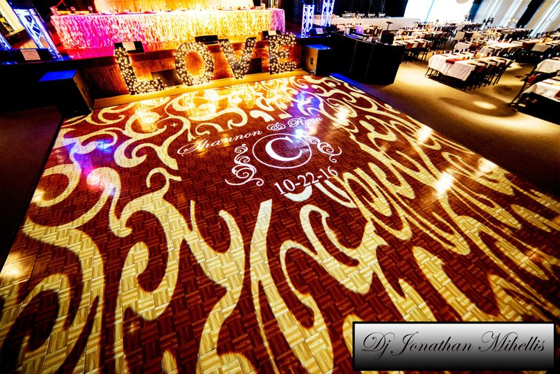 Projection Mapped Dance Floor by Finest Events