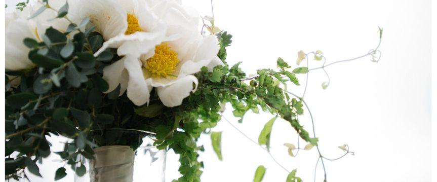 White floral design