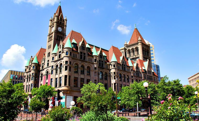 Exterior view of the Landmark Center
