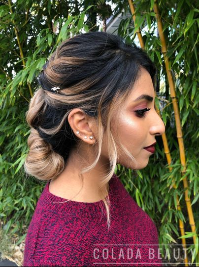 Side profile with glowing highlighter