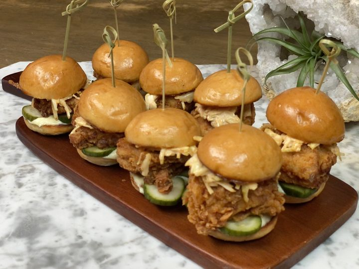 Mini fried chicken sandwiches