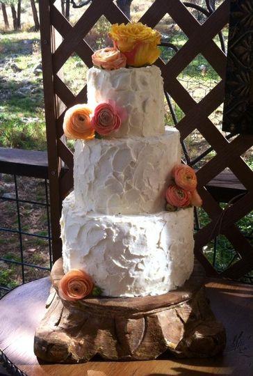 Spackle Cake w/ Spring Flowers