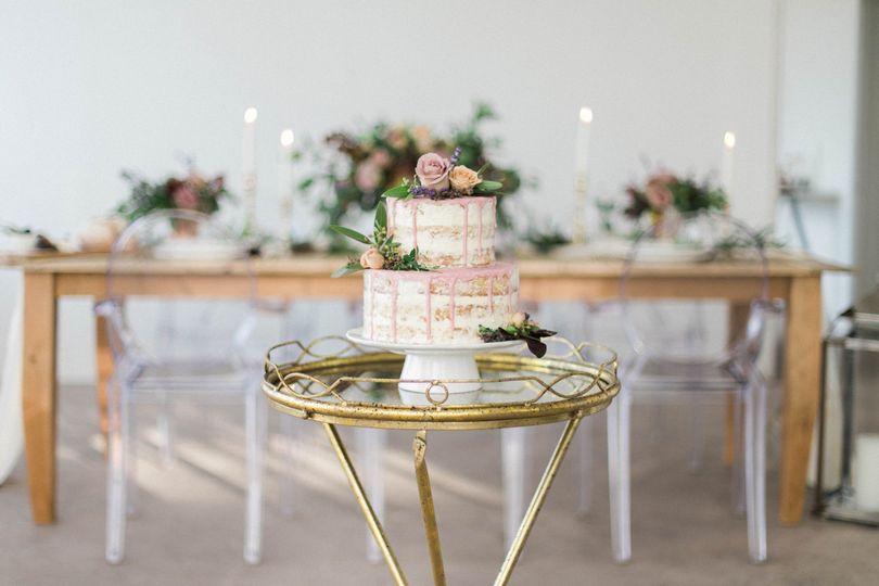 Nearly Naked Drip Cake
