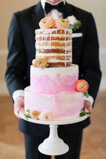 Watercolor & Naked Cake