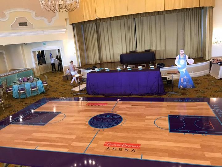 Custom basketball court print
