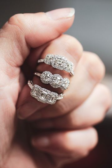 Next level three stone rings