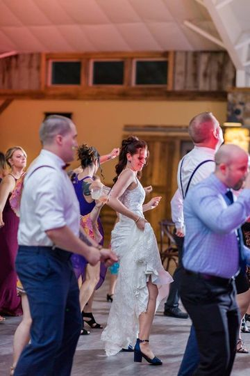 Bride showing off her moves