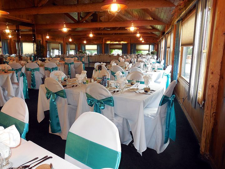 Lovely teal chair sashes