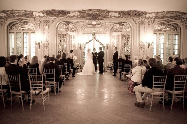 This wedding took place in Newport, RI. Photo by Sam Chinigo