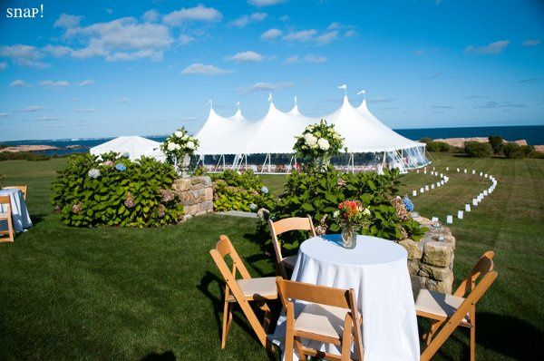 Wedding took place in Narragansett, RI at a private residence. Photo by Snap! Photography.