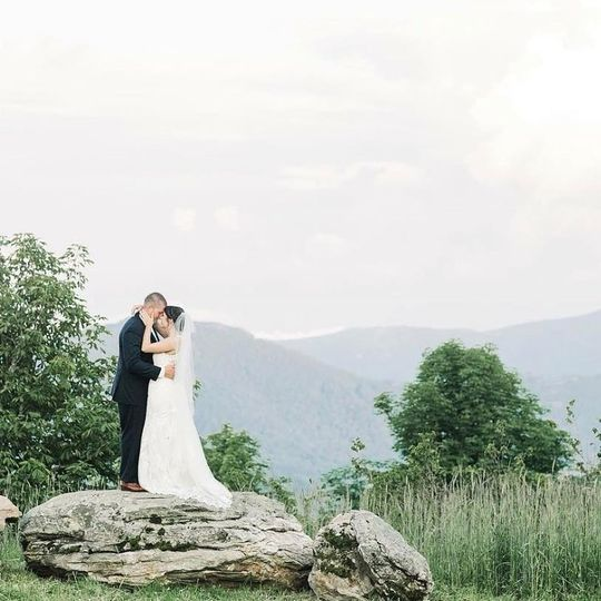 A stunning backdrop (photo from Taylor's wedding album)