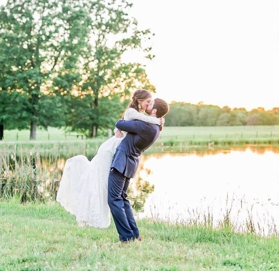 A romantic moment by the water (from Joan's wedding photo)