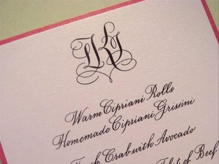 Tmx 1271025447772 MonogramMenu Merrick, NY wedding invitation