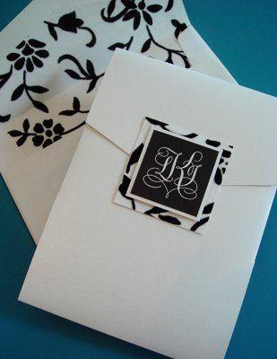 Tmx 1271025832600 KujanMonogramInvite Merrick, NY wedding invitation