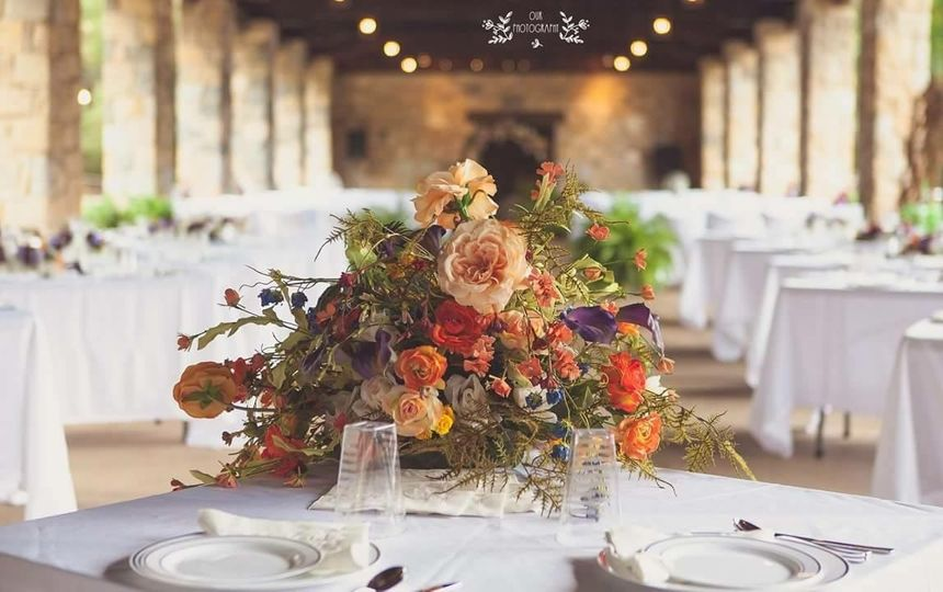 Unique and perfect glow! Perfect setting for the Bride and Grooms table! Indian Springs State Park