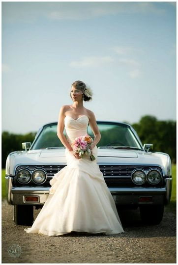 Bride and the limo