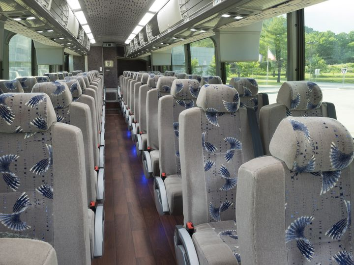 Interior of the buses