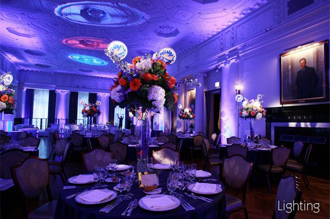 Reception set-up and uplighting