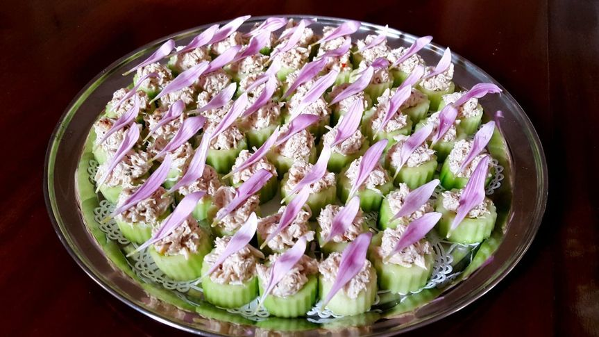 Fluted Cucumbers Stuffed with Bimini Crab Salad
